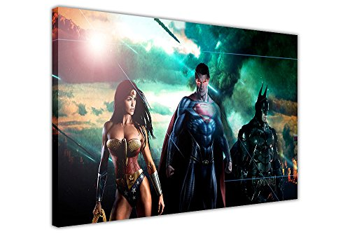 Leinwandbilder, DC Comics Superman, Batman, Wonder Woman, Raumdekoration, Superhelden-Poster, Home Décor, canvas holz, 7- 30
