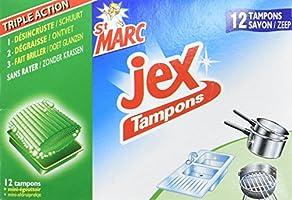 Tampons Jex St Marc - 12 Tampons Laine d'Acier avec Savon parent