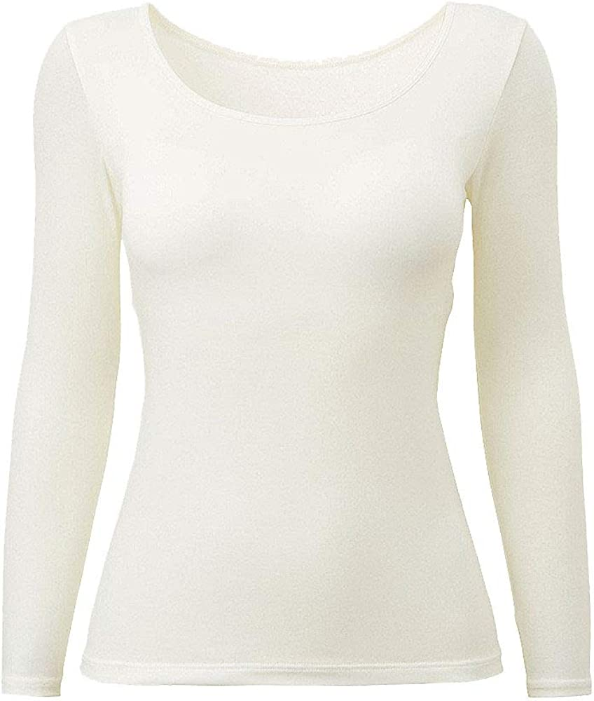 Womens Thermal Built-in Bra Winter Long Sleeve Ultra Soft Base Layer S-XL