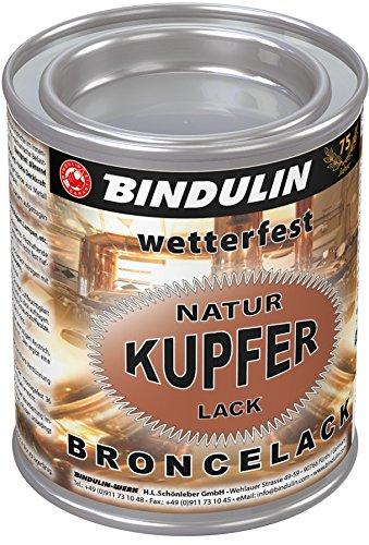 Bindulin Kupferlack wetterfest natur Metallfarbe (125 ml)