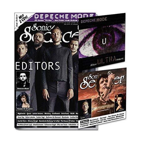 Sonic Seducer 03-2018 mit Editors Titelstory + exkl. CD mit Coverversionen zum Depeche Mode Album Ultra + 2. CD, Bands: Nightwish, Kraftwerk, Megaherz, Visions Of Atlantis u.v.a.