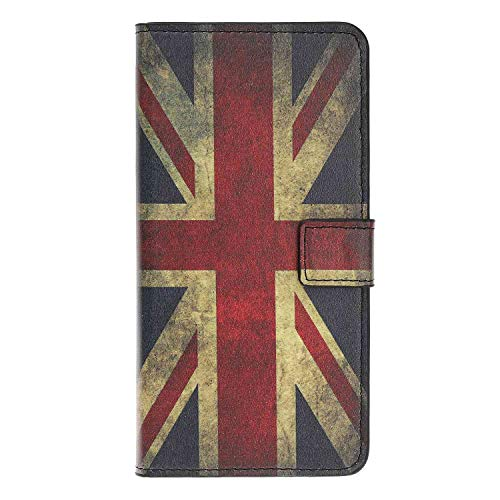 Skhawen iPhone 12 Case, iPhone 12 Pro Case, Flip PU Leather Protective Premium Wallet Card Slots Notebook Cover with Magnetic Closure Built-in Stand for iPhone 12/12 Pro, Union Jack