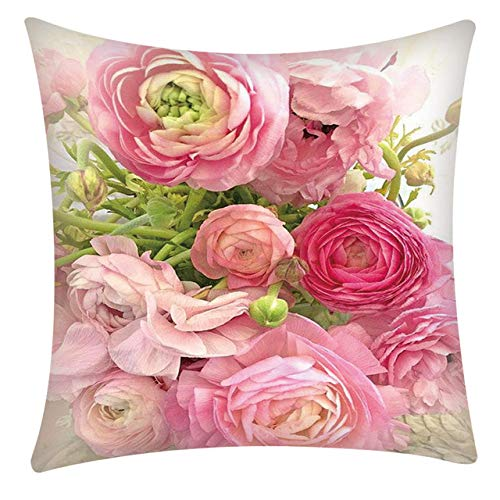Kussen LKU Europese stijl woondecoratie kussen roos sierkussen bank mediterrane stijl, F
