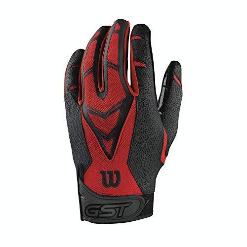 Wilson GST Skill American Football Handschuhe - rot Gr. S