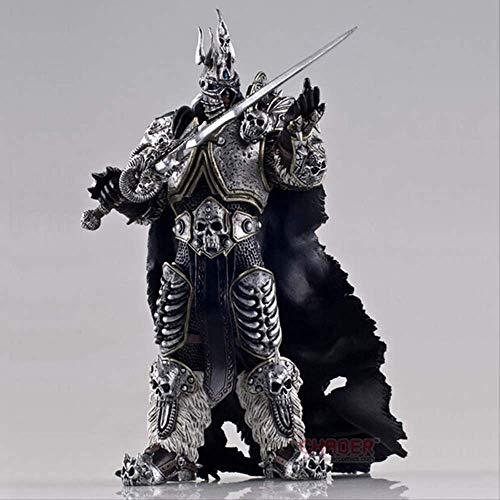 N\a 17cm Spielfilm Anime Figur Wow Fall des Lichkönigs Arthas Menethil Figur Actionfigur Sammlerstück Modell Spielzeug