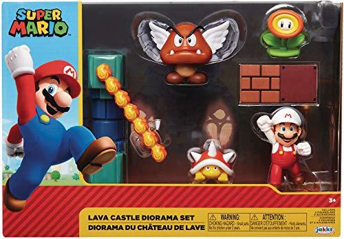 Funko- Set Diorama Castillo De Lava Super Mario Playset con Figuras, Color (400152)