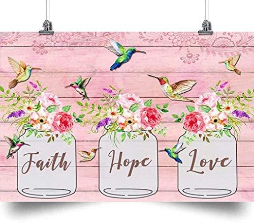 Faith, Hummingbird Canvas, Love Canvas, Hope Decor Home, Wall Art Canvas 0.75 Inch Print Decor (Size 8x12, 12x18, 16x24, 24x36 Inches)
