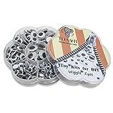 TOAOB 262 Stück Selbstklebend Wackelaugen Runde Schwarz Weiß 6mm bis 15mm Kunststoff Augen für Scrapbooking Kunsthandwerk Spielzeug Zubehör