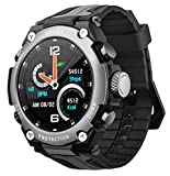 Smart Watch with Blood Pressure Monitor Altimeter Barometer Compass Outdoor Sports Watch IP68 Waterproof Fitness Tracker Pedometer Calorie Step Counter Music Sleep Monitor