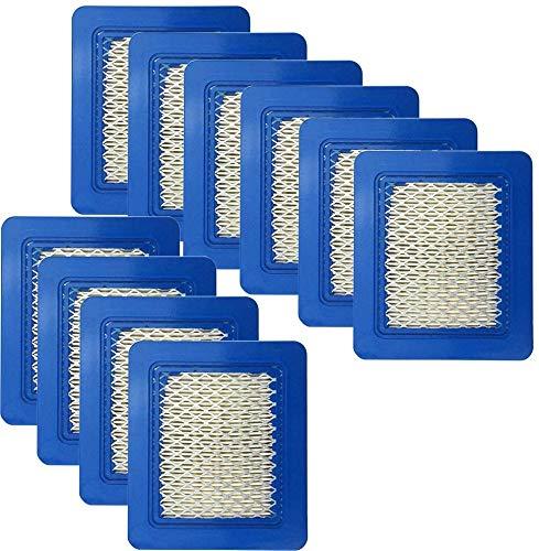 Sun3Drucker 10 Stück Rasenmäher Luftfilter,Luftfilter Ersatz für Briggs & Stratton 39959 491588S 491588 4915885