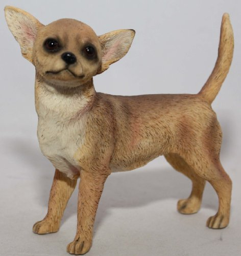 Perro Chihuahua Ornamental Leonardo Collection, de Piedra, Tostado