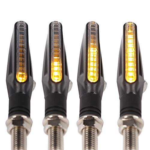 4 unids DC 12V 12 LED Universal Motorcycle Gurn Sirve Lámpara de señal Amber Cola Flasher Flasher Agua Agua INDICADOR DE BLUGADOR DOBLECIDO (Color : Yellow)