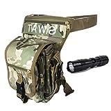 QMFIVE Waterproof Sac de Jambe Drop Leg Panel en Toile Sacs Banane pour Homme pour Airsoft Tactical Randonnée Vélo Sport en Plein Air