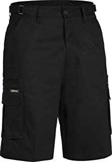 BISLEY WORKWEAR Men's Original 8 Pocket Cargo Short Black