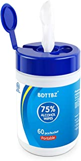 (US SHIPMENT) BDTTBZ Disposable Hand Wet Wipes 60PCS, Travel Size Cleaning Wipes, Cotton Pieces Cleansing Wipes for Adults Daily Use