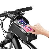 ZPFDM Wasserdichter Fahrrad-Telefonhalter, Fahrrad-Telefon-Frontrahmen-Tasche, Touchscreen-Smartphone-Tasche, kompatibel 6.5in oder weniger EIN großes Smartphone