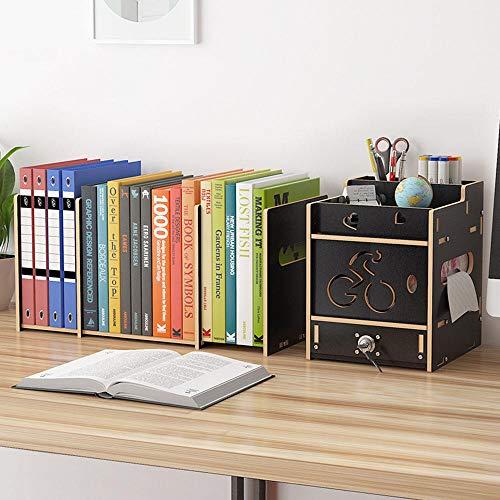 MNAD - Portapenne regolabile con ripiano per libri, portapenne e cancelleria, per scrivania
