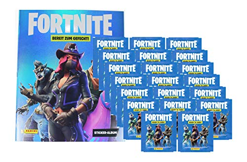Fortnite Sticker - Serie 1 (2019) - 1 Album + 20 Booster (100 Sammel Sticker)