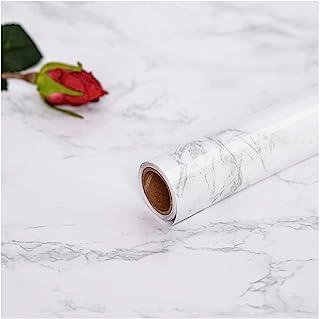 Hode Marmol Papel Adhesivo para Muebles Cocina Puerta Pared Vinilos Decorativos Papel Pintado Autoadhesivo Blanco Gris 30X...