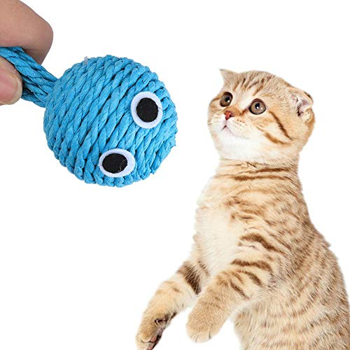 Cosiki 5 Stück ungiftiges Katzenspielzeug, Katzenspielzeug, Baumwollseil-beständiges Training für Haustierkatze