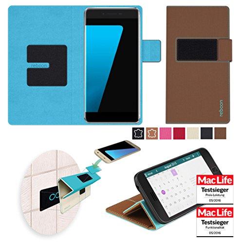 Hülle für Ulefone Future Tasche Cover Hülle Bumper   Braun   Testsieger