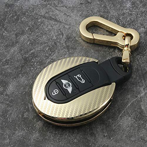 SLONGK Auto Zinklegierung Schlüsselhalter Abdeckung Tasche Koffer Ring, Für Mini Cooper One Fun F54 F55 F56 R56 R57 R58 R59 R60 R61