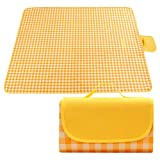 Extra Large Picnic Blanket, Dual Layers Sandproof Waterproof Oversized for 6-8 People Beach Blanket, 79''X79'' Foldable Machine Washable Mat for Camping Hiking Park Music Festivals and Travel