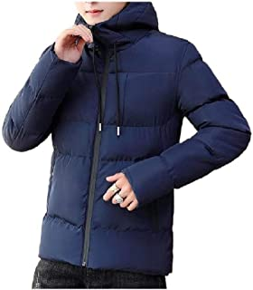 Howely Men's Hooded Winter Lined Parka Jacket Thicken Warm Puffer Jacket