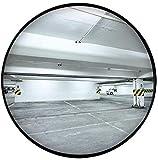 F.L.S Espejo de Tráfico Convexo de Seguridad 60cm Cubierta de tráfico Espejo, Espejo Negro esférico Convexo Impermeable inastillable de Seguridad Espejo de Seguridad Estacionamiento Volviendo Espejo