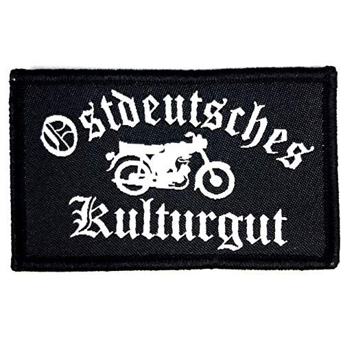 1 x Deutschland DDR Patch Adler Aufnäher Deutsches Kulturgut Fahne Flagge B&eswehr Armee B& mit Klettverschluss