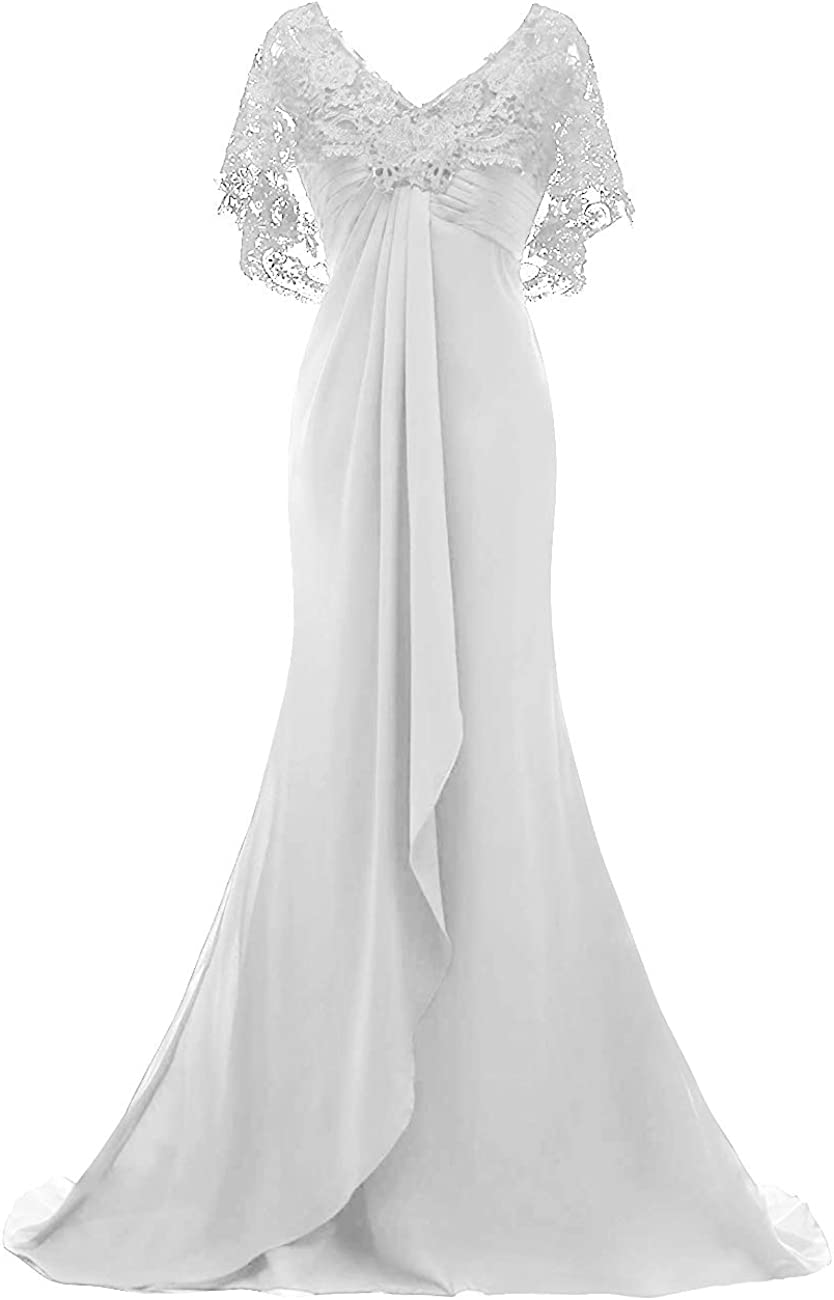 Mother of The Bride Dresses Long Prom Evening Gowns Mermaid Wedding Dress Cloak