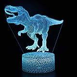 Luz De Noche De Dinosaurio Para Niños, Juguetes De Dinosaurio Para Niños, Regalo De Dinosaurio T Rex, Luz De Noche Para Niños Con Control Remoto Que Cambia De 16 Colores, Regalos De Cumpleaños Para N