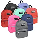 24 Case Pack of Bulk Backpacks - Classic 17 Inch Wholesale Backpacks for Boys and Girls