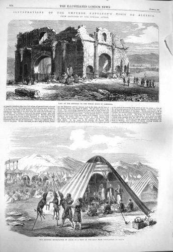 Arabisches Zelt 1865 Napoleon Algerien Lambessa Sahara Kantara