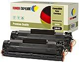 Pack de 2 TONER EXPERTE Compatibles CB435A 35A Cartuchos de Tóner Láser para HP Laserjet P1005, P1006, P1007, P1008, P1009, Canon LBP-3010, LBP-3018, LBP-3050, LBP-3100, LBP-3108, LBP-3150