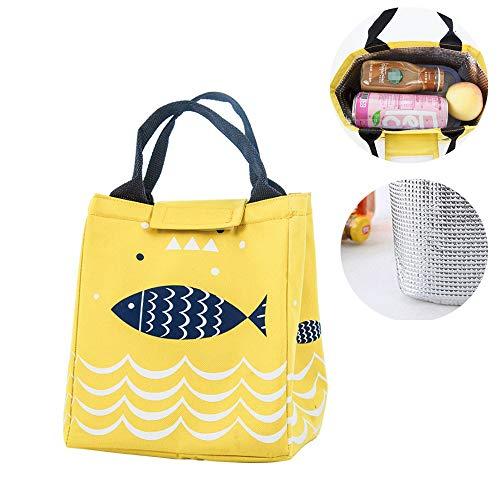 Lunchtasche Mittagessen Tasche, Picknicktasche, Isolierte Lunchtasche für Damen Herren und Kinder für Kinder und Studenten,Picknick, Lebensmitteltransport für Büroangestellte und Schüler