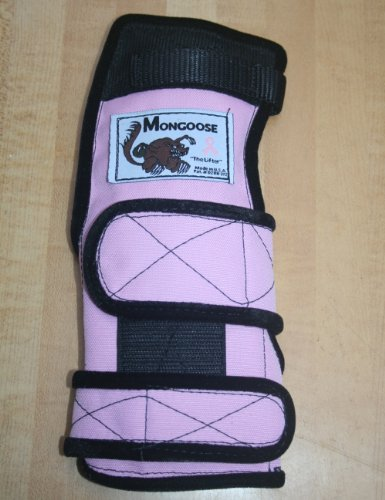 Mongoose Lifter Bowling Wrist Support Right Hand, Extra Large, Pink