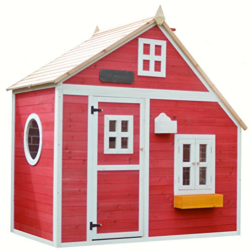 Big Game Hunters Crooked Mansion Pre-Painted Wooden Playhouse - Easy Assembly Children's Play House, 6' x 4'