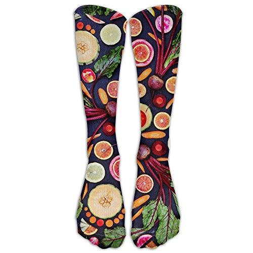 YuanHu Damen & Herren Vegan Live-Obst Gemüse Strumpf Socken Sportlich Socken Lange Socken All Sport Ferien