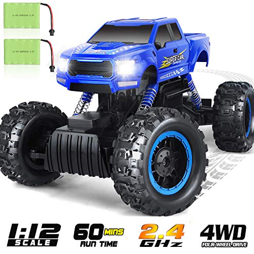 DOUBLE E 1:12 RC Cars Monster Truck 4WD Dual Motors Rechargeable Off Road Remote Control Truck
