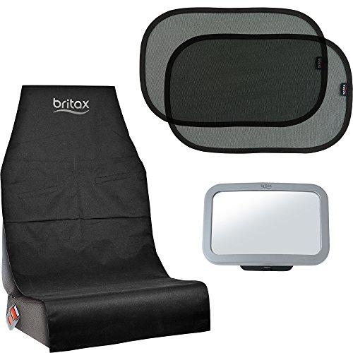 Britax Römer Original Zubehör I Set mit Schutzunterlage für Kindersitz, Sonnenschutz für Fenster und Rücksitzspiegel