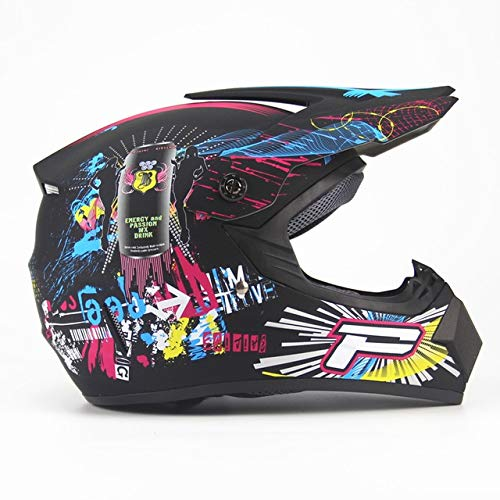 MYSdd Erwachsenen Offroad Motorrad Offroad Helm ATV Geländefahrrad Downhill Mountainbike DH Rennhelm Crosshelm Mütze - Grün XL