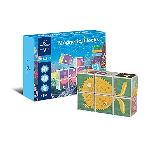 BP- Magnético de Fiesta Oceánica 9 Bloques Puzzle, Color (310)