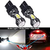 HSUN 7443 LED Bulb 12V-24V W21/5W T20 7440 Extremely Bright with Projector Canbus Error Free Replacement for Back Up Reverse Lights or Tail Brake Lights,Xenon White