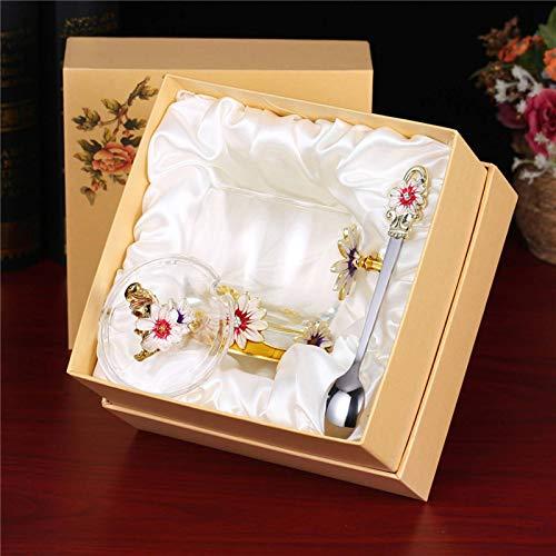 NC Esmalte taza de vidrio taza de café resistente al calor taza de té perfumada taza de regalo