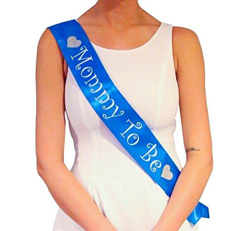 Baby shower boy, fête de bébé – c'est un garçon ! – Jolie écharpe ou accessoire bleu ou décoration bleue pour future maman – Cadeau pour soirée ou fête surprise entre copine, fille, amie, femme, meilleure amie
