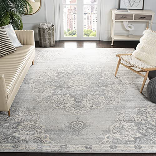 Safavieh Brentwood Collection BNT802F Medallion Distressed Non-Shedding Living Room Bedroom Dining Home Office Area Rug, 5'3