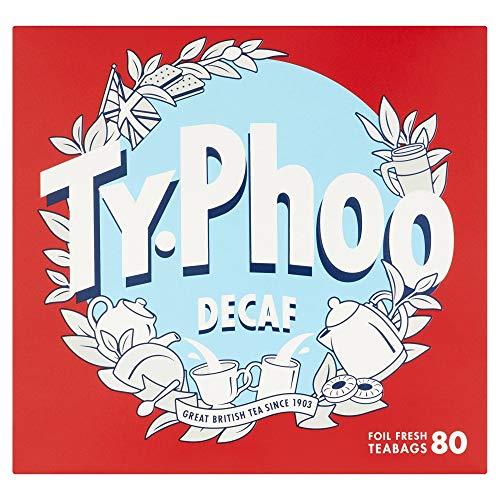 Typhoo Decaf Tea, 80-Count Tea Bags (Pack of 2)