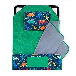 5. Wildkin Kids Jurassic Dinosaurs Nap Mat with Pillow