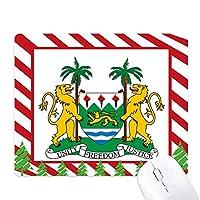 シエラレオネのアフリカの国家エンブレム ゴムクリスマスキャンディマウスパッド